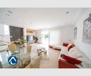 Esszimmer mit Wohnzimmer Haus Portocolom Mallorca