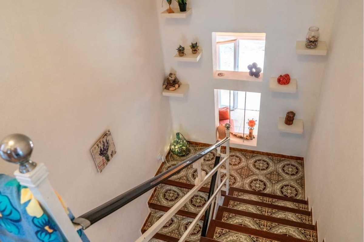 Treppenaufgang zum Obergeschoss im Haus Portocolom