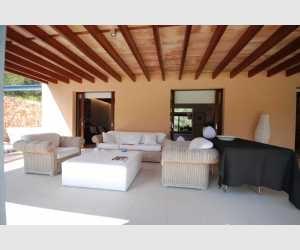 Terrasse mit Zugang zum Wohnzimmer Finca Portocolom