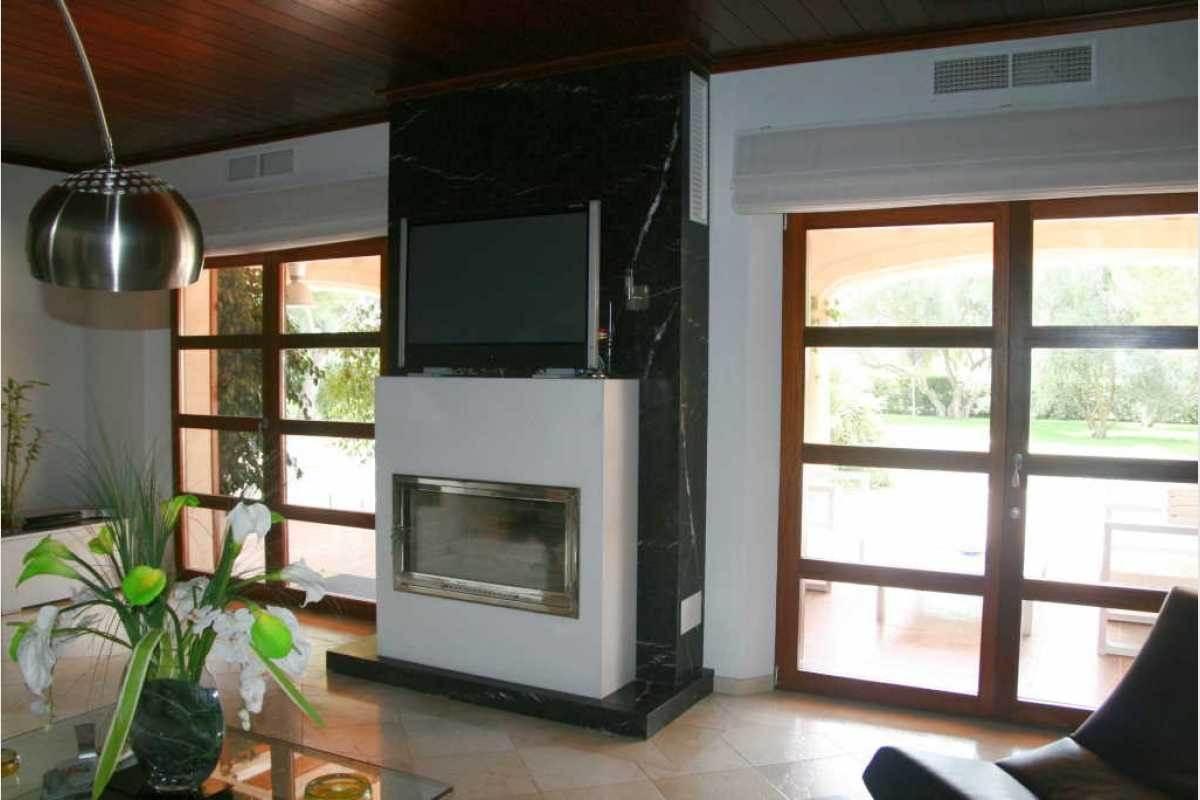 Wohnbereich mit Kamin Finca Felanitx-Campos