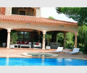Terrasse mit Zugang zum Pool Finca Felanitx-Campos