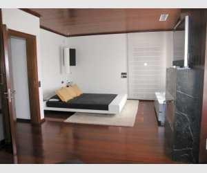 Schlafzimmer mit Kamin Finca Felanitx Mallorca