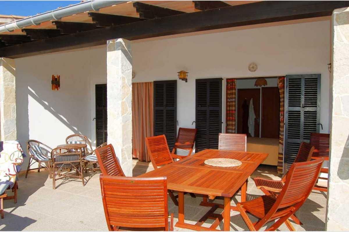 Schöne Terrasse Haus mit Hafenblick Portocolom