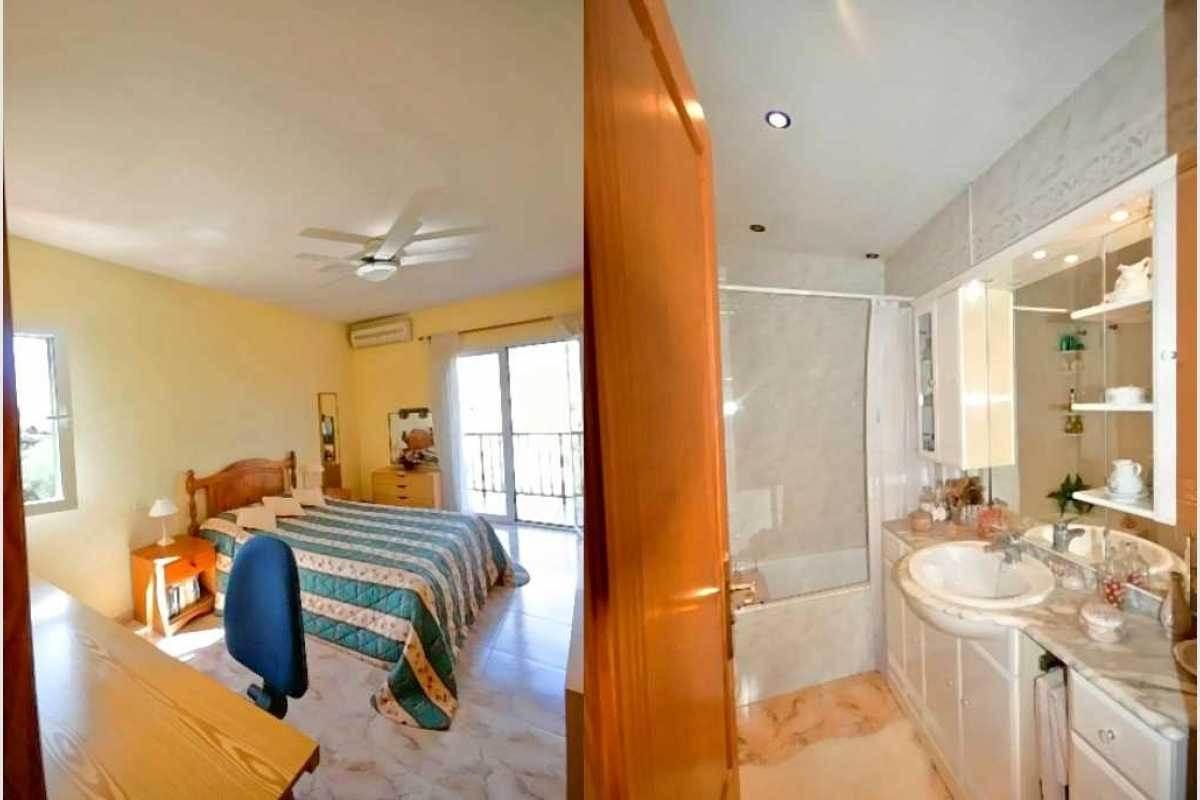 Schalfzimmer und Bad