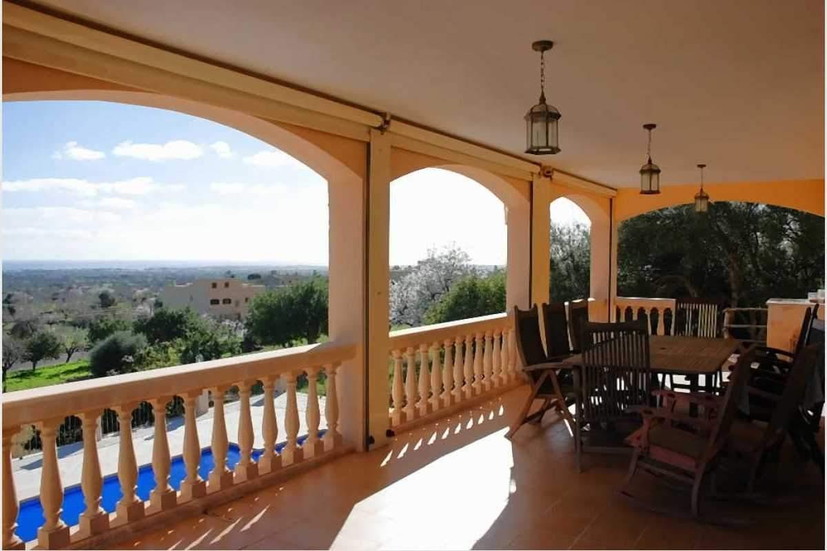 Terrasse mit Meerblick Haus Shorta Mallorca