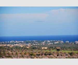 Panoramablick auf Portocolom Haus in Shorta Mallorca
