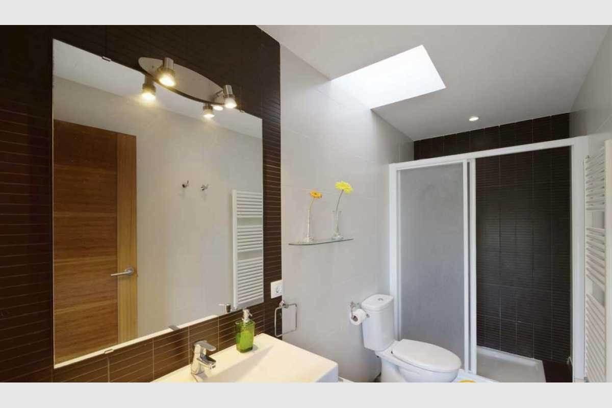 Baño en suite Doppelhaushälfte Cala Ferrera